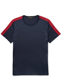 T-shirt à col rond bleu marine Burberry