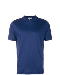 T-shirt à col rond bleu marine Canali