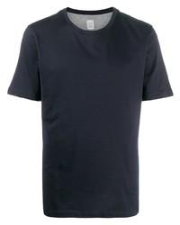 T-shirt à col rond bleu marine Eleventy