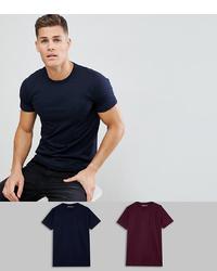T-shirt à col rond bleu marine French Connection