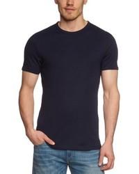 T-shirt à col rond bleu marine Garage