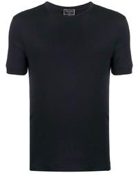 T-shirt à col rond bleu marine Giorgio Armani