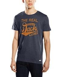 T-shirt à col rond bleu marine Jack & Jones