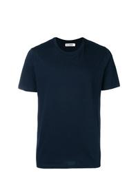 T-shirt à col rond bleu marine Jil Sander