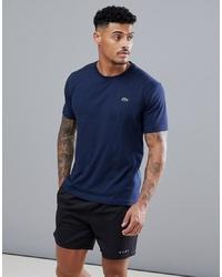 T-shirt à col rond bleu marine Lacoste Sport