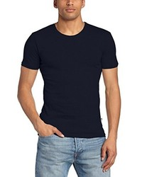 T-shirt à col rond bleu marine Minimum