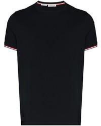T-shirt à col rond bleu marine Moncler