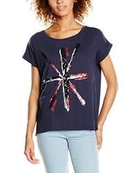 T-shirt à col rond bleu marine Pepe Jeans