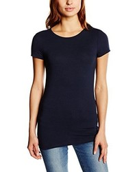 T-shirt à col rond bleu marine Pieces