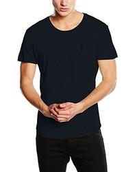 T-shirt à col rond bleu marine Religion