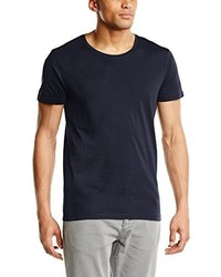 T-shirt à col rond bleu marine Selected