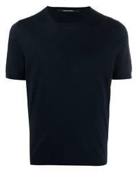 T-shirt à col rond bleu marine Tagliatore