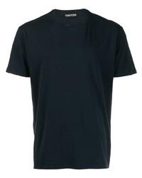 T-shirt à col rond bleu marine Tom Ford