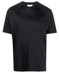 T-shirt à col rond bleu marine Z Zegna