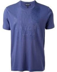 T-shirt à col rond bleu