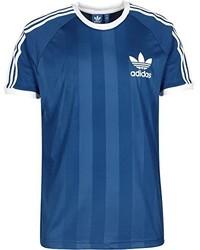 T-shirt à col rond bleu adidas