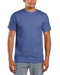T-shirt à col rond bleu Anvil