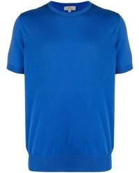 T-shirt à col rond bleu Canali