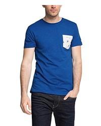 T-shirt à col rond bleu Esprit