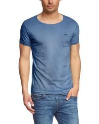 T-shirt à col rond bleu Franklin & Marshall