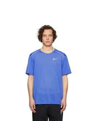 T-shirt à col rond bleu Nike