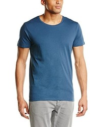T-shirt à col rond bleu Selected