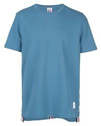 T-shirt à col rond bleu Thom Browne