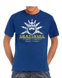 T-shirt à col rond bleu Touchlines