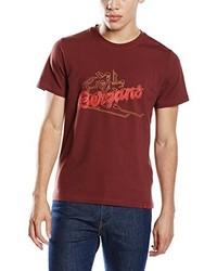 T-shirt à col rond bordeaux Bergans