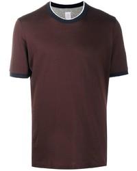 T-shirt à col rond bordeaux Eleventy
