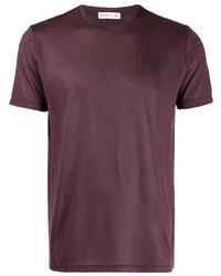 T-shirt à col rond bordeaux Etro