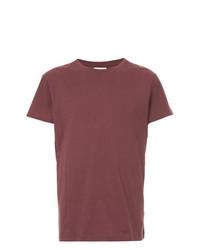 T-shirt à col rond bordeaux Kent & Curwen