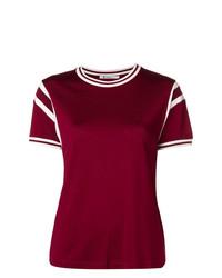 T-shirt à col rond bordeaux T by Alexander Wang