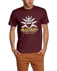 T-shirt à col rond bordeaux Touchlines