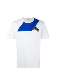 T-shirt à col rond brodé blanc Salvatore Ferragamo