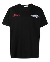 T-shirt à col rond brodé noir Givenchy