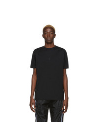 T-shirt à col rond brodé noir Marcelo Burlon County of Milan