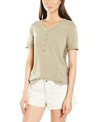 T-shirt à col rond brun clair Roxy