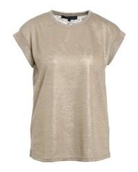 T-shirt à col rond brun clair Soft Rebels