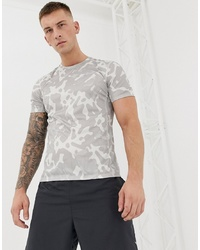 T-shirt à col rond camouflage gris Nike Running