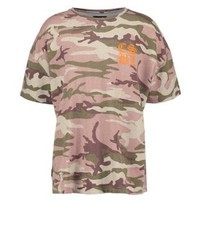 T-shirt à col rond camouflage olive Cayler & Sons