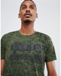 T-shirt à col rond camouflage olive Dr. Denim