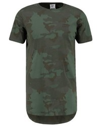 T-shirt à col rond camouflage olive Hype