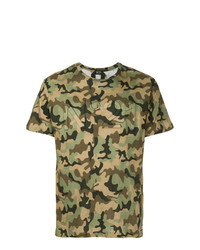 T-shirt à col rond camouflage olive N°21