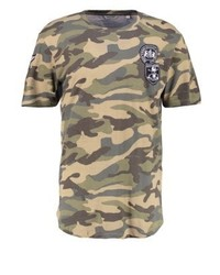T-shirt à col rond camouflage olive ONLY & SONS