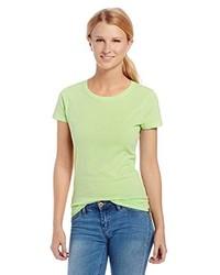 T-shirt à col rond chartreuse