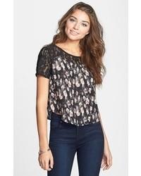 T shirt a col rond en dentelle original 4110593