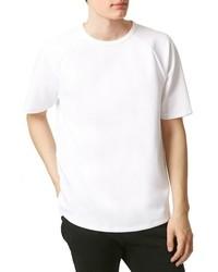 T-shirt à col rond en tricot blanc