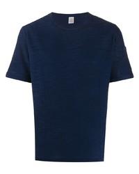 T-shirt à col rond en tricot bleu marine Eleventy