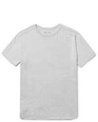 T-shirt à col rond en tricot gris